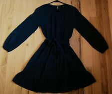 NWOT Abercrombie and Fitch, size x-small, navy blue, chiffon, swing skater dress