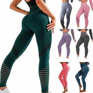 Womens Seamless Leggings Gym High Waist Booty Sports Fitness Running Yoga Pants