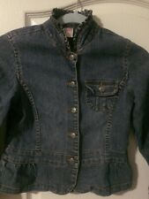 GIRLS JEAN JACKET SIZE M 8/10 YEARS OLD