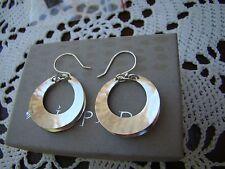 Hoop Earrings W3494 Silpada Sterling Silver, Broad