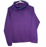 Nike Dri Fit Purple Mock Neck Womens Pullover Hoodie Size Small