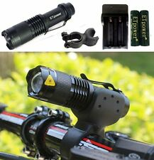 2000LM  XML T6 LED Bike Bicycle FrontLight HeadLight Torch Flashlight 2 x 18650