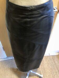 Marina Rinaldi Leather Midi Skirt