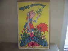 Vintage Black Light Poster Sunset Marketing how does your garden gro Benacqua 71