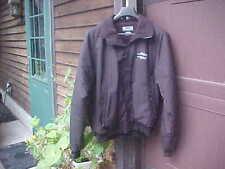 Men's  Providence/Worcester Railroad Logo Fleece Lined Black Windbreaker Jacket