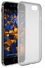 mumbi Hülle für Apple iPhone 8 7 Schutzhülle Ultra Slim Case transparent schwarz