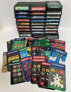 Lot of 25 Vintage Intellivision ColecoVision Games W/Overlays Untested