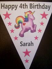 Handmade Personalised Unicorn bunting / party decoration / birthday