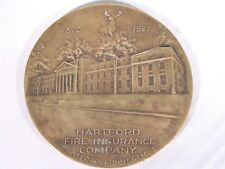 "Vtg 1921 Whitehead-Hoag 4"" Bronze Medallion Hartford Fire Insurance Company CT"
