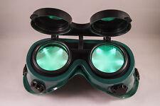 TrYptiX Steampunk Cyber Goth Goggles GREEN LED Light in Lense EDC Burning Man
