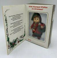 NEW 1985 Bradford Deck The Halls Christmas Tree Ornament In Original Box VINTAGE