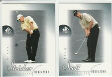 2001 SP Authentic (2 Card Rookie Lot ) Steve Stricker Adam Scott RC MINT!