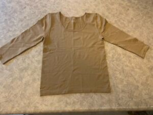 Women's ~IMAN Global Chic Brown Shirt - Size Small~ Brand NEW