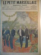 TOISON D'OR AU Pdt DE LA REPUBLIQUE LE SALUT MILITAIRE LE PETIT MARSEILLAIS 1898