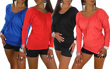 V Neck Blouses Patternless Stretch Tops & Shirts for Women