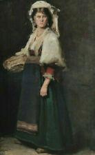 Frau in Tracht mit Korb