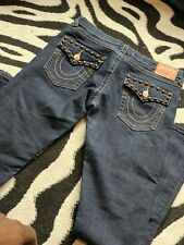True Religion Women's Bobby Super T Distressed Bootcut Jeans  Size 30 Authentic