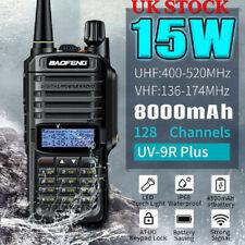 Baofeng UV-9R Plus Walkie Talkie Long Range 2 Way With Radio Desktop Charger UK