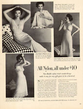 1952 vintage AD Van Raalte Nightgowns and Slips Lovely Model under $10 !  072815
