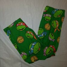 Teenage Mutant Ninja Turtles Boys Green Pajama Pants w/Pizza & Turtles Size 4T