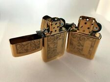 Vintage Zippo Brass Case lighters His & Hers.