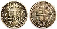 Spain-Felipe V. 2 reales. 1721 Cuenca. Plata 5,2 g. Muy bonita