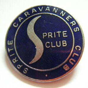 Vintage 1960's Sprite Caravanners Club Sprite Club Enamelled Pinback Badge