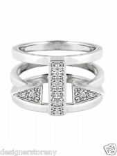 CC Skye Rhodium Plated Punk Heiress Ring size 7