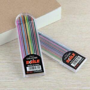 12colors/Box 2B Lead Refills Multi Colored Pencil Assorted 2.0mm B3U7 F5F3 Best