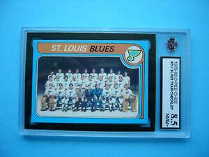 1979/80 O-PEE-CHEE HOCKEY CARD #257 ST. LOUIS BLUES TEAM CHECKLIST KSA 8.5 OPC
