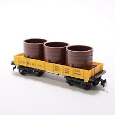 HO Scale -  Mantua - D&RGW 95 - 29' Flat Car w/ Barrel Load