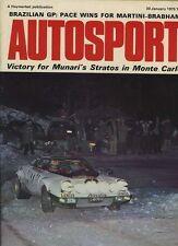 Autosport January 30th 1975 *Monte Carlo Rally Lancia Win*