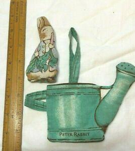 VINTAGE 1984 ANNE WILKINSON DESIGNS MINI PETER RABBIT IN WATERING CAN BAG