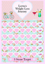 Personalised Weight Loss diet slimming chart tracker target goal sw ww