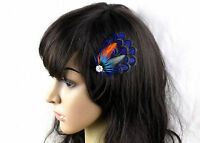 Women Bohemian Peacock Feather wedding Dance Party Hair Head Clip Pin Fascinator