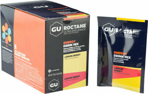 GU Roctane Energy Drink Mix: Lemon Berry, Box of 10
