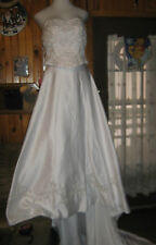 WOMENS BRIDAL ORIG.WEDDING DRESS/GOWN-4 PIECE-MEASUREMENTS PROV. FOR SIZE-SIZE 6