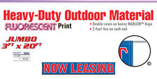 Now Leasing Banner Sign apartment complex rental open house free rent first