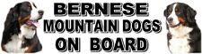 BERNESE MOUNTAIN DOGS ON BOARD Car Sticker By Starprint
