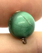 Antique 9ct Gold Malachite Ball Charm #152