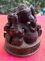Ganesha Statue antique deux faces Bronze Hindou Ganesh Shiva Inde Temple Asie A