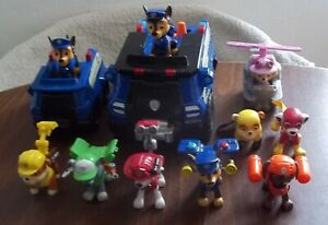 Nickelodeon lot figurines & véhicules Pat patrouille sac a dos transformable