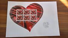 Schweiz, FDC Kleinbogen / mini sheet Liebe-Amour-Amore-Love, Postfrisch / mint