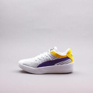 Puma Clyde All-Pro Coast 2 White Prism Violet Basketball LA Lakers Men 195124-02