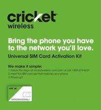 New Cricket Wireless - Universal SIM Card Activation Kit