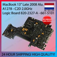 """MacBook 13"""" Aluminum A1278 Late 2008 Logic Board C2D 2.0GHz 820-2327-A 661-5101"""