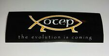 """OTEP BLACK YELLOW WHITE THE EVOLUTION IS COMING MUSIC 2""""x6"""" STICKER"""
