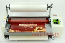 """2017 Latest version 13"""" Four Rollers Hot and cold roll laminating machine 220V"""