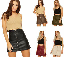 Micro Mini Solid Skirts for Women
