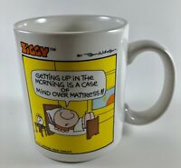 1979 Ziggy Getting up in the Morning is Mind Over Mattress Coffee Cup Mug
